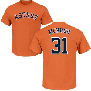 Collin McHugh Houston Astros Youth Orange Roster Name & Number T-Shirt -