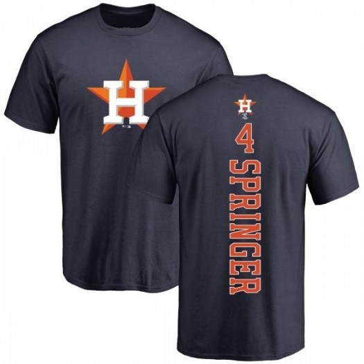 George Springer Houston Astros Youth Navy Backer T-Shirt -